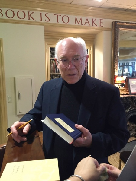 Robert Bringhurst signing Palatino at The Book Club of California